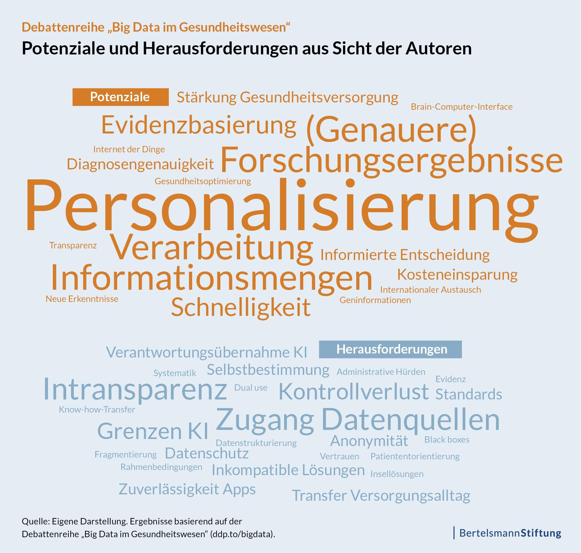 """Debattenreihe """"Big Data im Gesundheitswesen"""": Potenziale und Herausforderungen aus Sicht der Autoren"""